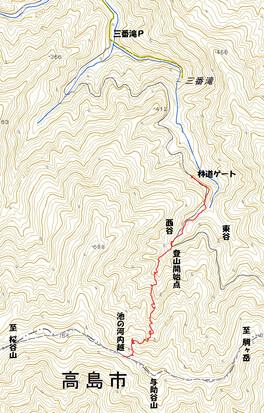 池の河内越の登山道情報